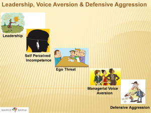 Voice Aversion in Leaders