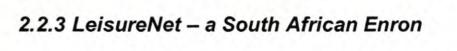 Leisurenet  A south african Enron